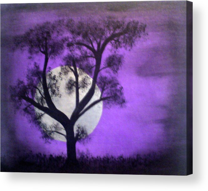 Scarry Nights Acrylic Print featuring the painting Bad Moon by James Jones