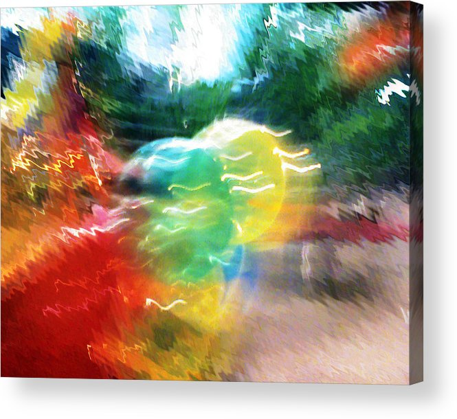 Baloons Acrylic Print featuring the painting Baloons N Lights by Anil Nene