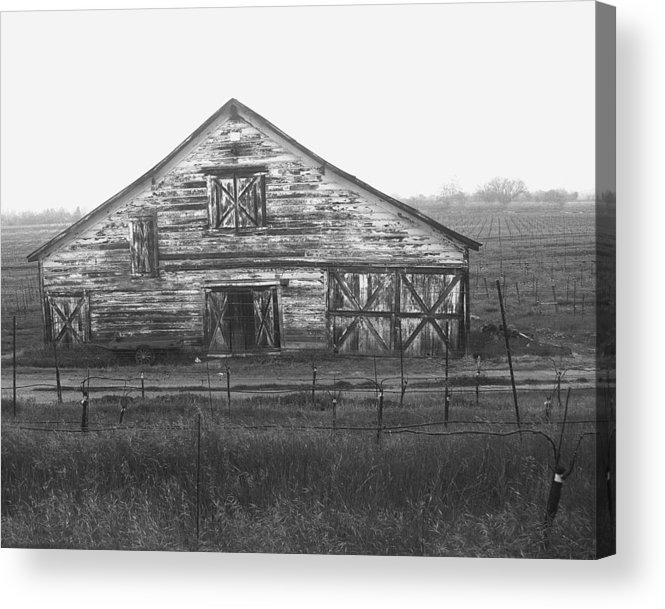 Barn Acrylic Print featuring the photograph Barn Of X by Tom Reynen