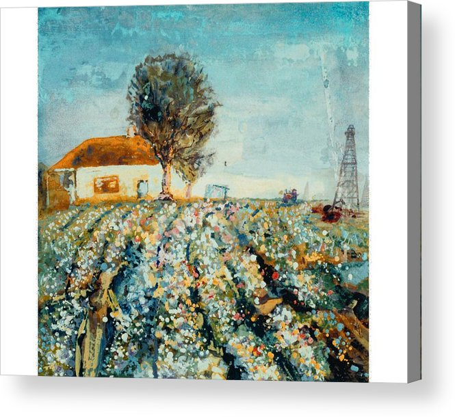 Fields Of Cotton Acrylic Print featuring the painting Basics Heritage by Helen Musser