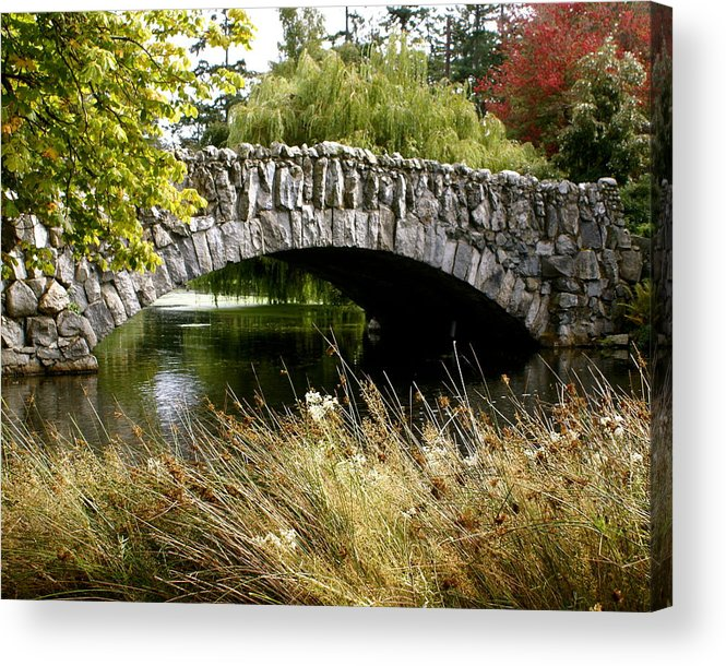 Bridge Acrylic Print featuring the photograph Beacon Hill Park by Sonja Anderson