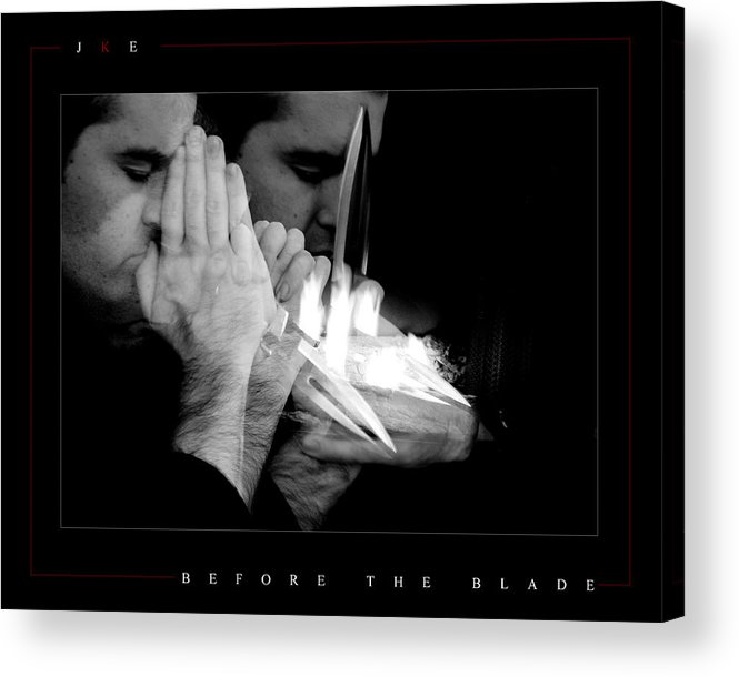 Self Portrait Acrylic Print featuring the photograph Before The Blade by Jonathan Ellis Keys