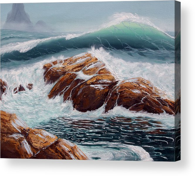 Sea Scapes Acrylic Print featuring the painting Before The Storm by Lorraine Foster
