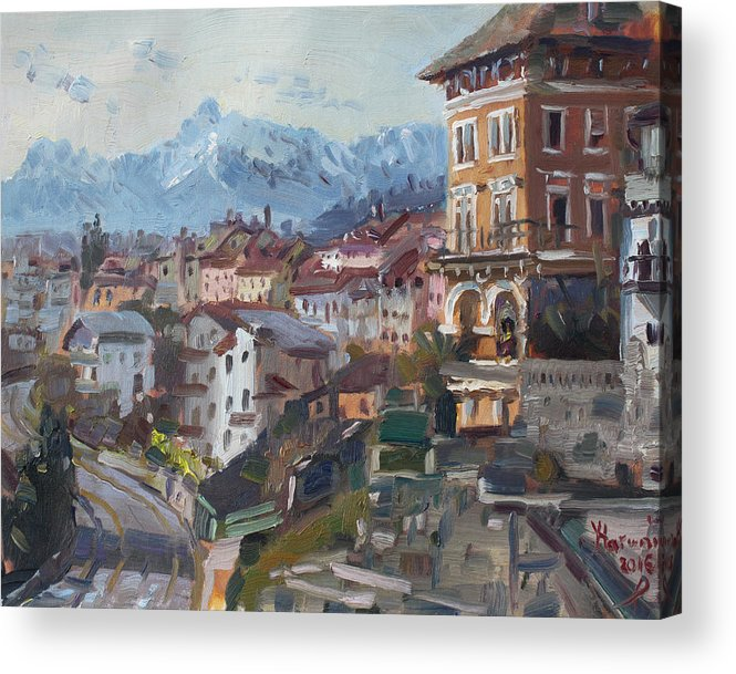 Belluno Acrylic Print featuring the painting Belluno, Italy by Ylli Haruni