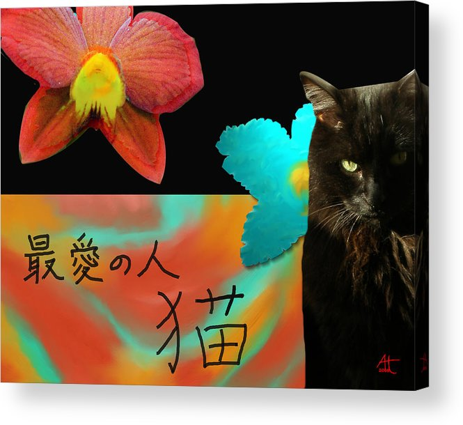 Cat Acrylic Print featuring the photograph Beloved Cat by Ann Tracy