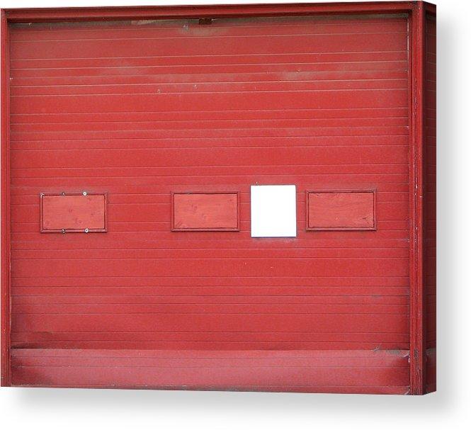 Door Acrylic Print featuring the photograph Big Red Door With Accent by Ben Freeman
