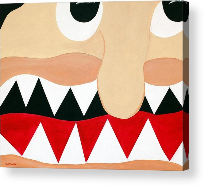 Funism Acrylic Print featuring the painting Big Smile by Sal Marino