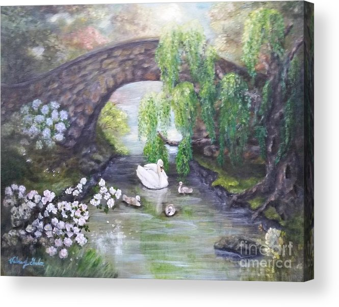 Impressionism Acrylic Print featuring the painting Blissful Morning by Valerie Gordon