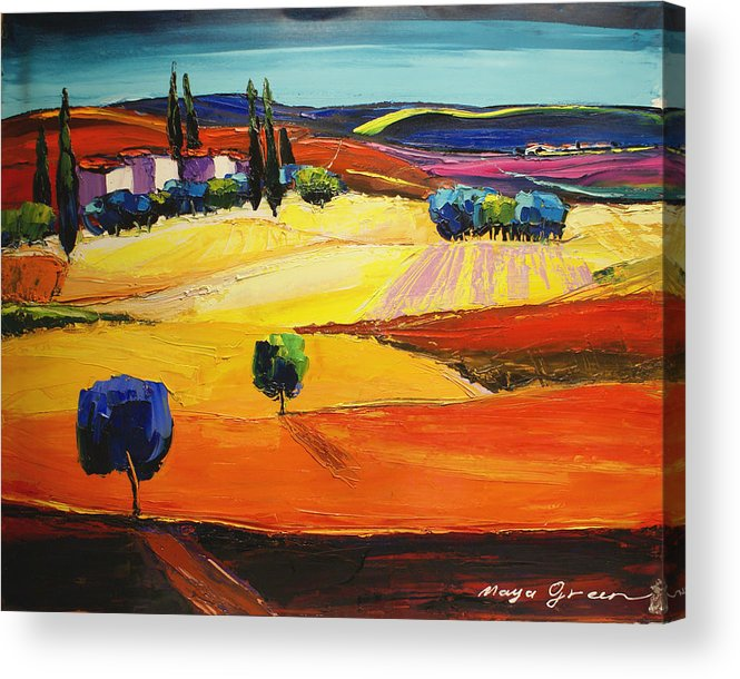 Artwork Acrylic Print featuring the painting Blues by Maya Green