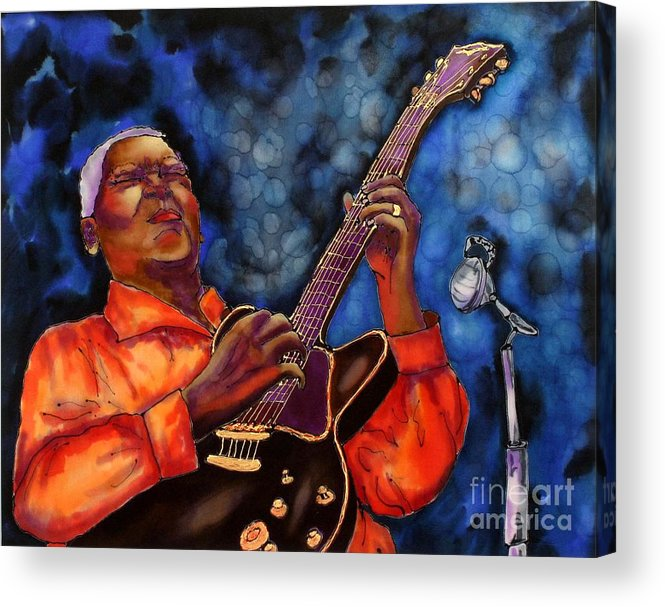 Jazz Acrylic Print featuring the painting Blues Vibe by Linda Marcille
