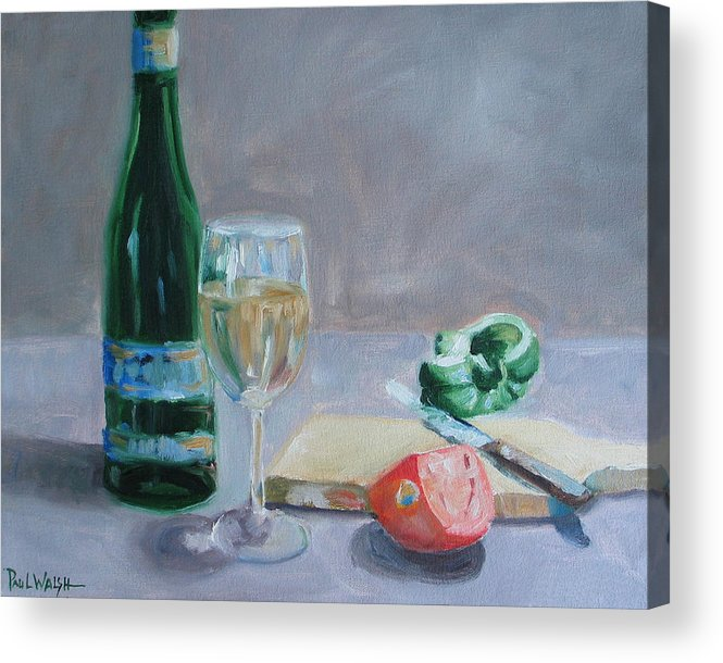 Wine Acrylic Print featuring the painting Bon Appetite by Paul Walsh