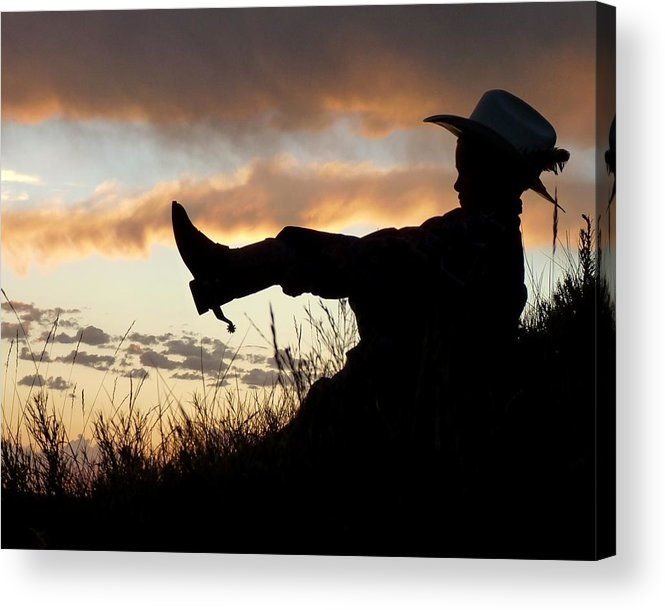 Cowboy Acrylic Print featuring the photograph Boots On by Carla Froshaug
