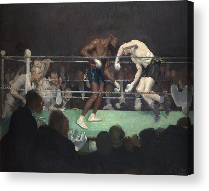 Boxing Acrylic Print featuring the painting Boxing Match by George Luks