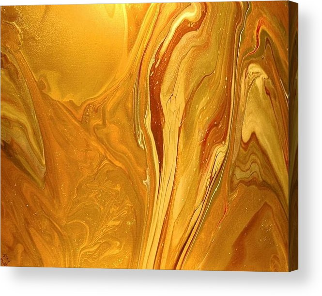 Abstract Acrylic Print featuring the painting Caramel Delight by Patrick Mock