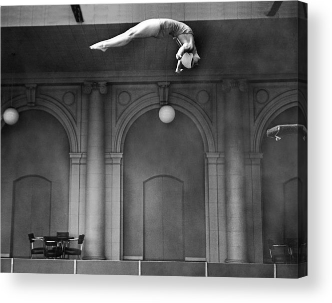 1 Person Acrylic Print featuring the photograph Champion Helen Crlenkovich by Underwood Archives