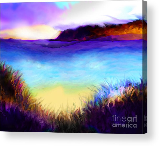 Ocean Acrylic Print featuring the painting Coastal by Mike Massengale