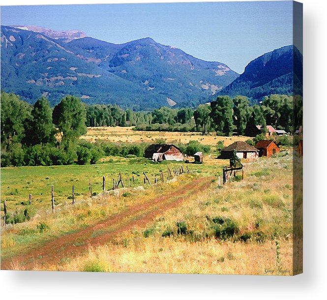 Colorado Acrylic Print featuring the photograph Colorado Ranch by Greg Taylor
