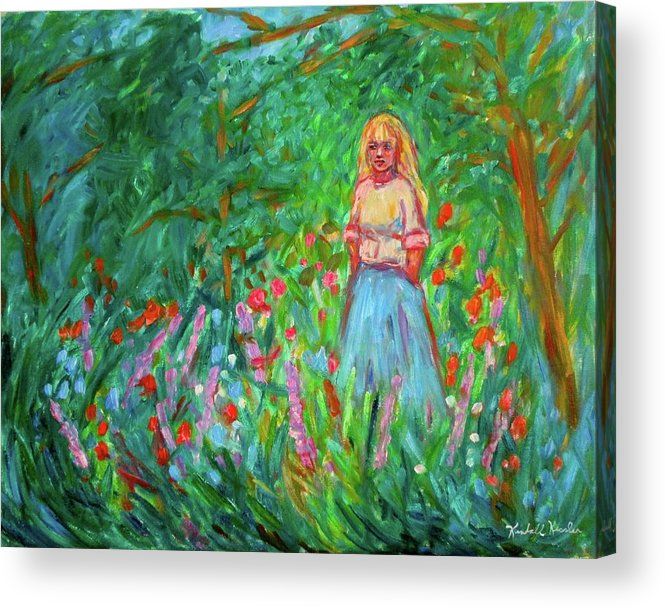 Landscape Acrylic Print featuring the painting Contemplation by Kendall Kessler