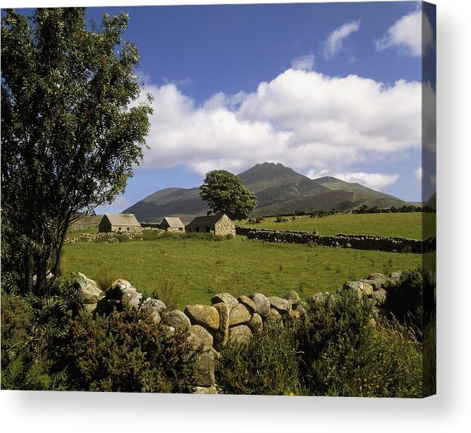 Scenery Acrylic Print featuring the photograph Cottages On A Farm Near The Mourne by The Irish Image Collection