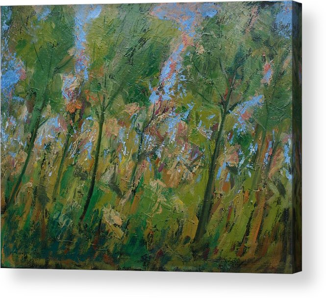 Trees Acrylic Print featuring the painting Country Landscape by Mario Zampedroni