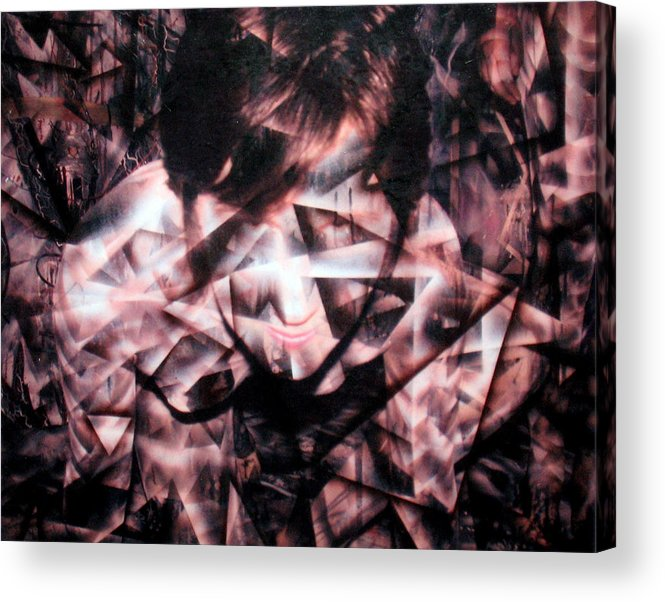 Painting Acrylic Print featuring the painting Deirdre Shattered by Leigh Odom