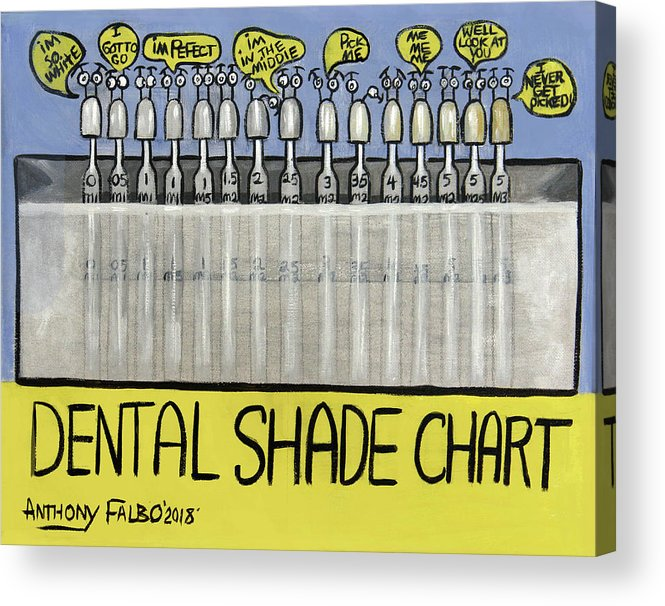 image about Tooth Shade Chart Printable titled Dental Coloration Chart Acrylic Print