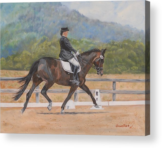 Horse Acrylic Print featuring the painting Donnerlittchen by Quwatha Valentine