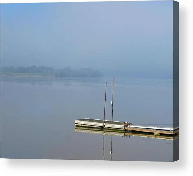River Acrylic Print featuring the photograph Doug's Dock by Martie DAndrea