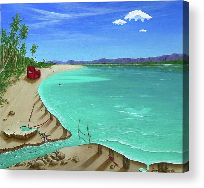 Surreal Painting Acrylic Print featuring the painting Easy Living by Sharon Ebert