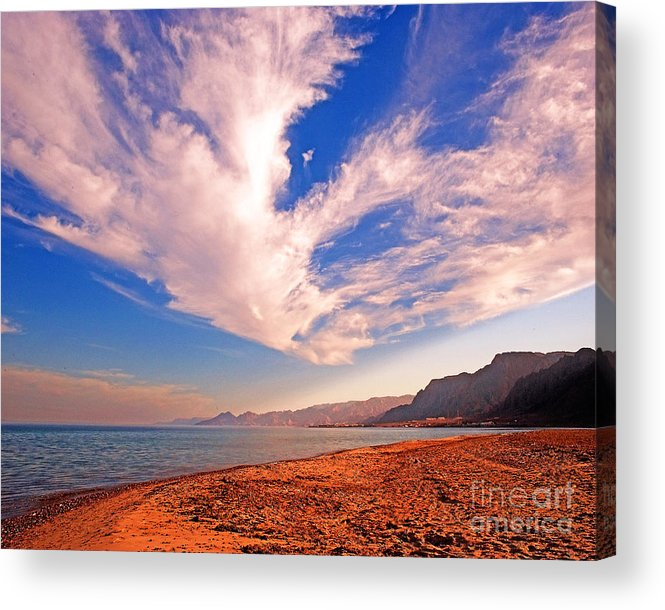 Taba Heights Acrylic Print featuring the photograph Egyptian Desert Coast And The Red Sea by Chris Smith
