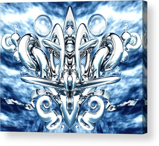Abstract Acrylic Print featuring the painting Elation by Dreamlight Creations