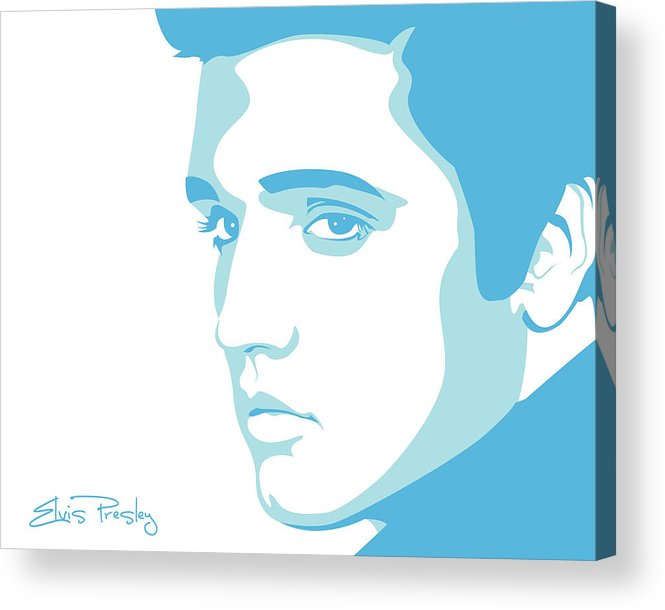 Rock And Roll Acrylic Print featuring the digital art Elvis by Mike Maher
