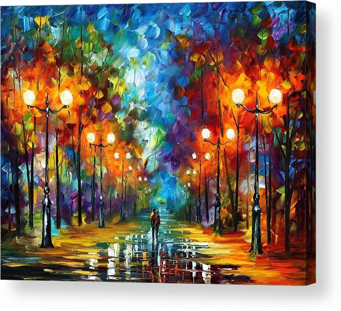 Afremov Acrylic Print featuring the painting End Of Winter by Leonid Afremov
