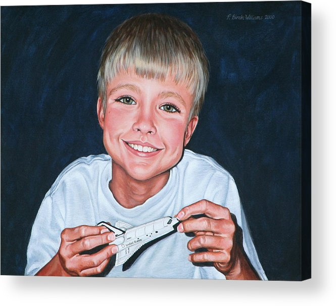 Portrait Acrylic Print featuring the painting Enthusiasm by Penny Birch-Williams