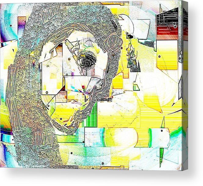 Digital Acrylic Print featuring the digital art Exercises 4 by Ilona Burchard