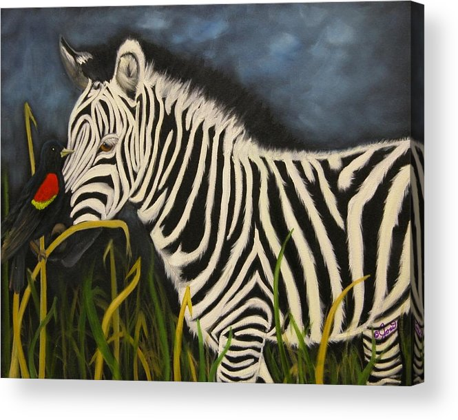 Wildlife Acrylic Print featuring the painting Eye Contact by Joni McPherson