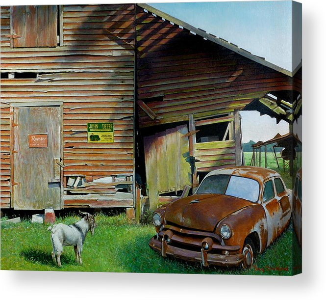 Doug Strickland Acrylic Print featuring the painting Face-off by Doug Strickland