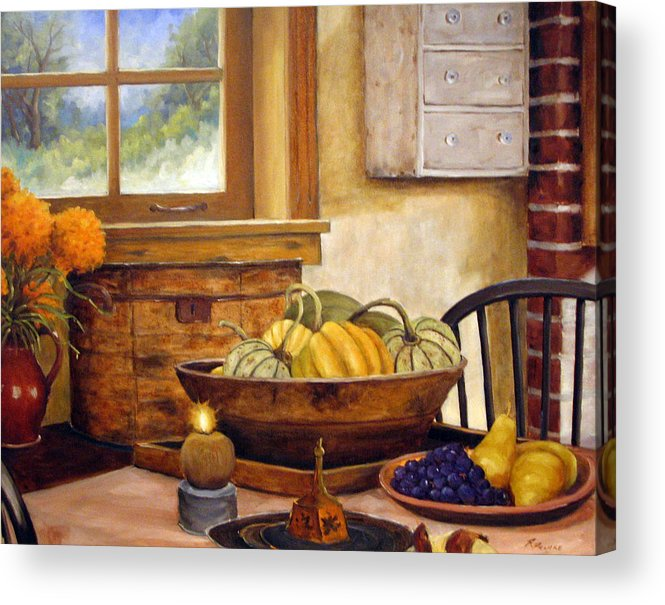 Fall Acrylic Print featuring the painting Fall Harvest by Richard T Pranke