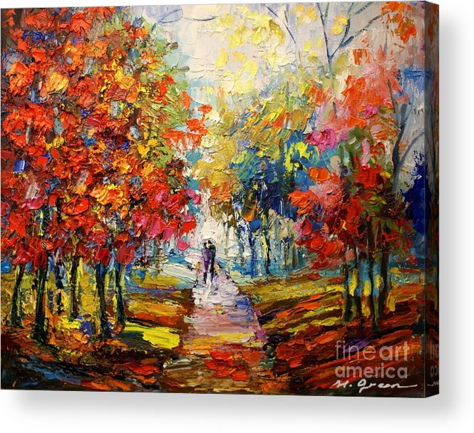 Artwork Acrylic Print featuring the painting Fall by Maya Green