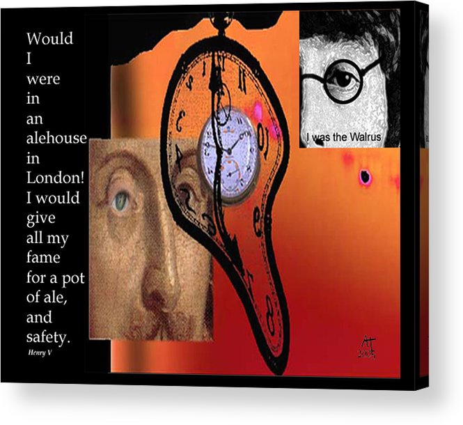 Fame Acrylic Print featuring the digital art Fame And Fortune II by Ann Tracy