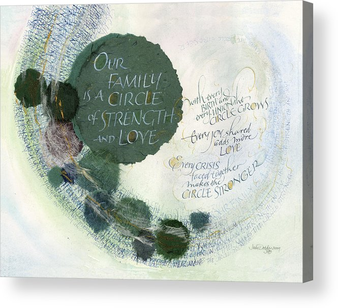 Adoption Acrylic Print featuring the painting Family Circle by Judy Dodds