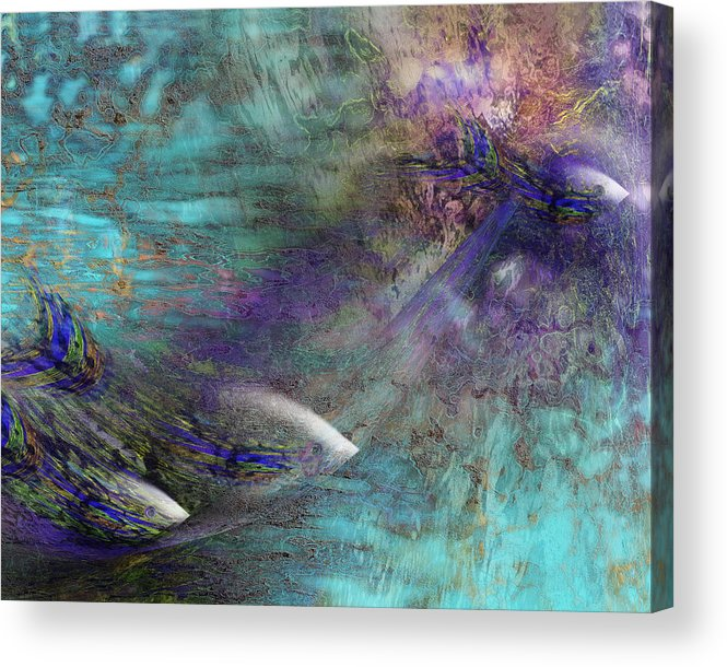 Fish Water Ocean Acrylic Print featuring the digital art Fantasy Fish by Gae Helton