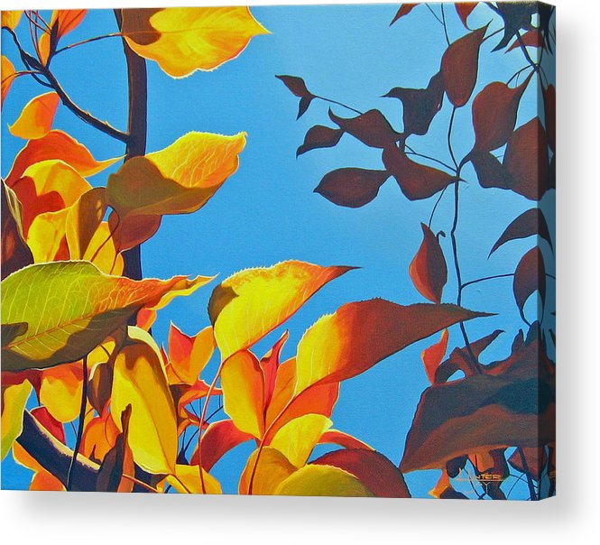 Fall Acrylic Print featuring the painting Farewell To Summer by Hunter Jay