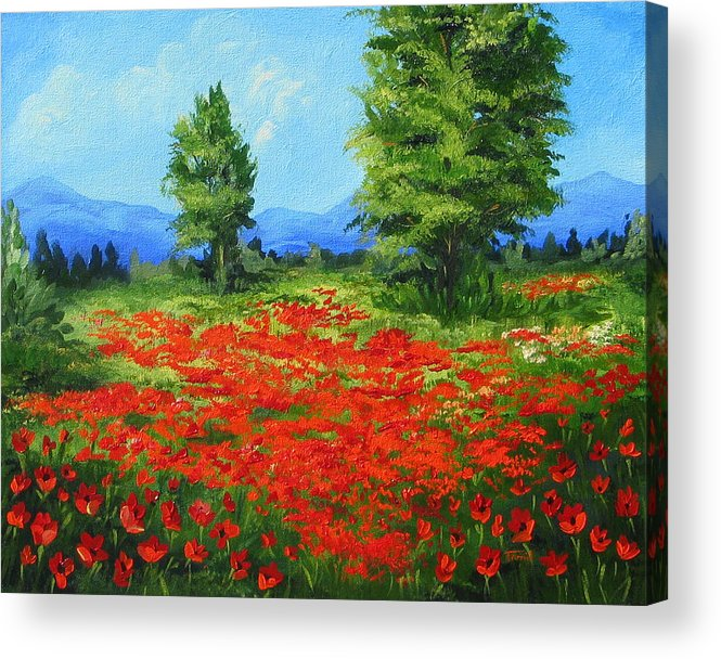 Poppy Field Acrylic Print featuring the painting Field Of Poppies IIi by Torrie Smiley