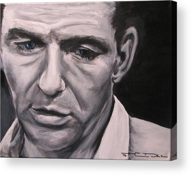 Celebrity Portrait Acrylic Print featuring the painting Frank With The Golden Arm by Eric Dee