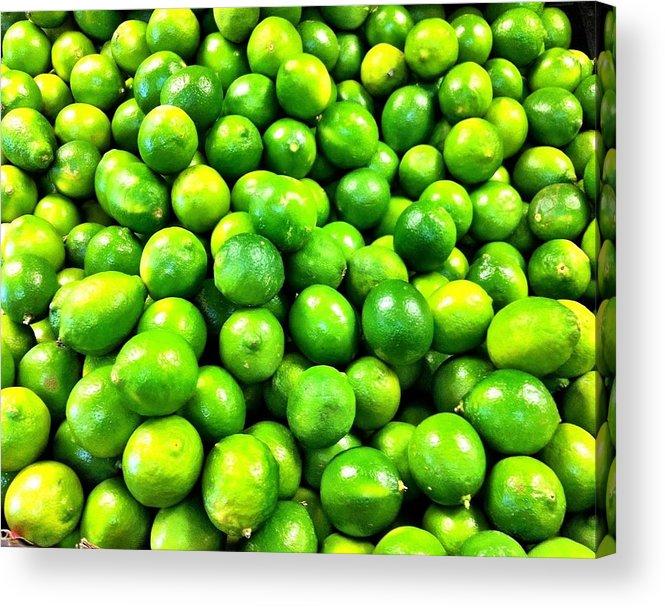 Produce Store Acrylic Print featuring the photograph Fresh Lemons by Carlos Avila