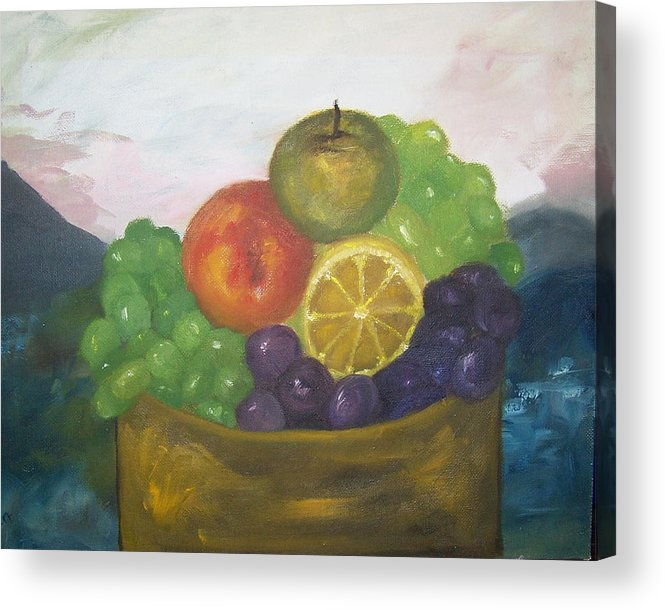 Oil Painting Acrylic Print featuring the painting Fruit Of The Land by Pamela Wilson