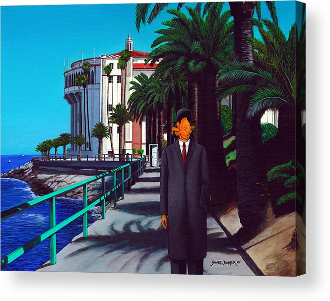 Catalina Acrylic Print featuring the painting Gary Baldie by Snake Jagger