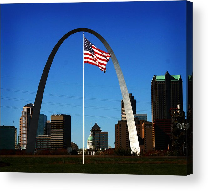 Arch Acrylic Print featuring the photograph Gateway To The West by Anthony Jones