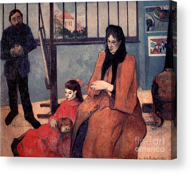 1889 Acrylic Print featuring the photograph Gaugin: Family, 1889 by Granger